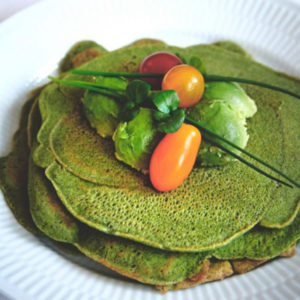 Spinach pancakes recipe by Caroline Fibaek